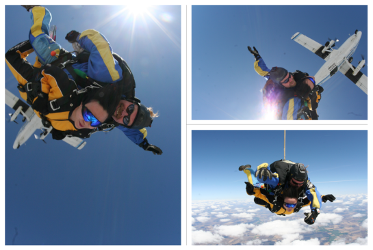 Skidiving at Skydive Chicago