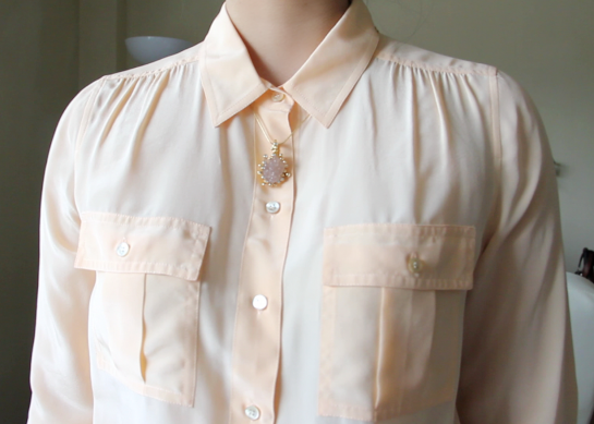 J.Crew Silk Blythe blouse