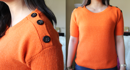 J.Crew Button Box Sweater