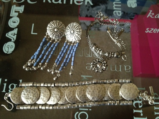 JewelMint Morning Rain Earrings, Lost City Neckalce, and Mumbai Bracelet